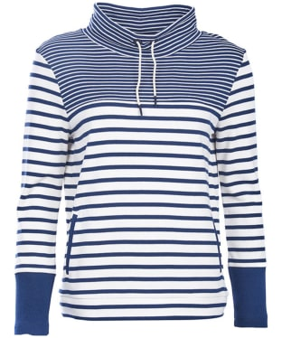 Women's Barbour Rief Sweatshirt - Cloud / Navy