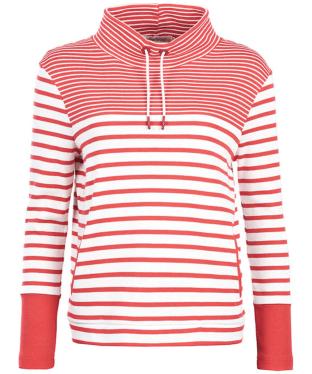 Women's Barbour Rief Sweatshirt - Cloud / Red