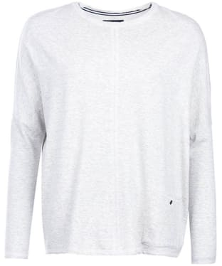 Women's Barbour International Arlen Sweat - Light Grey Marl