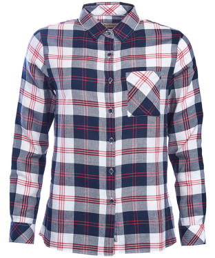 Women's Barbour Dock Check Shirt - Navy Check