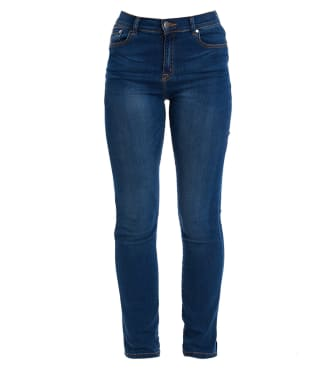 Women's Barbour Essential Slim Jeans - Worn Blue