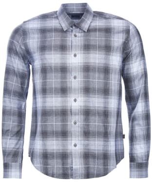 Men's Barbour International Track Shirt - Charcoal Check