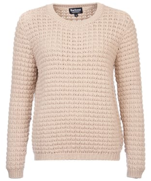 Women's Barbour International Enduro Knit Jumper - Beige