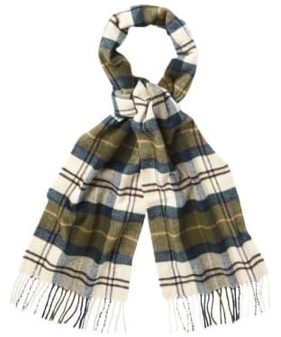Barbour Tartan Merino Cashmere Wool Scarf