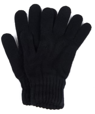 Men's Barbour Lambswool Gloves - Black