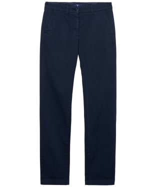Women's GANT Original Cropped Chinos - Marine