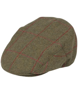 Men's Alan Paine Combrook Waterproof Tweed Flat Cap - Sage