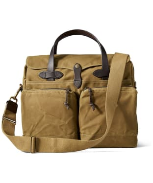 Men's Filson 24-Hour Tin Briefcase - Dark Tan