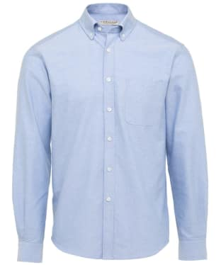 Men's R.M. Williams Collins Oxford Cotton Shirt - Light Blue