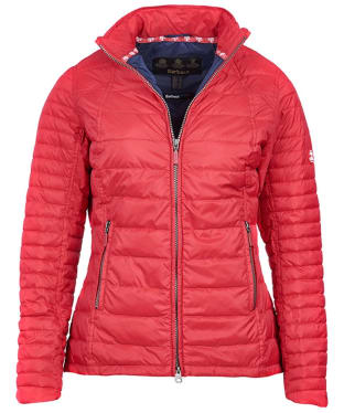 Women's Barbour Chock Quilted Jacket - Red
