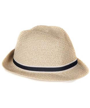 Women's Barbour Lagoon Trilby Hat - Dark Natural
