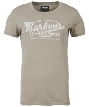 Women's Barbour International Accelerate Tee - Khaki