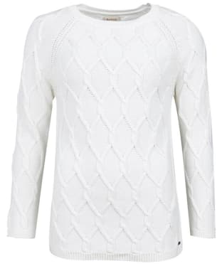 Women's Barbour Diamond Cable Knit Sweater - Cloud