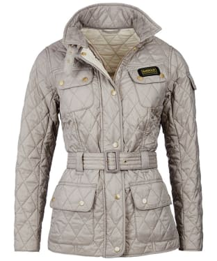 Women's Barbour International Lightweight Quilted Jacket - Taupe / Pearl
