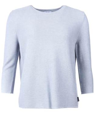 Women's Barbour Cross Back Crew Neck Sweater - Grey