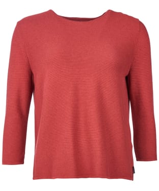 Women's Barbour Cross Back Crew Neck Sweater - Rust