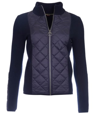 Women's Barbour Sporting Zip Knit - Navy