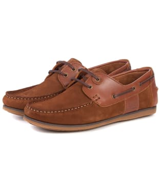 Men's Barbour Capstan Boat Shoes - Cognac
