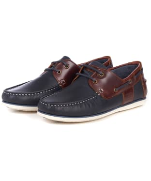 Men's Barbour Capstan Boat Shoes - Navy / Brown