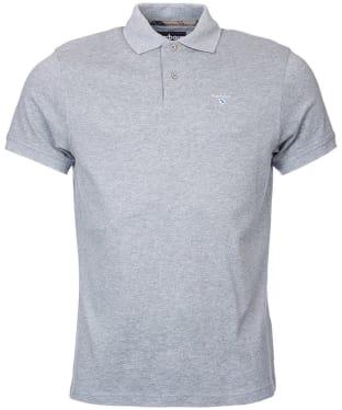 Men's Barbour Tartan Pique Polo Shirt - New Grey Marl
