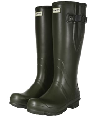 Men's Hunter Field Side Adjustable Neoprene Wellington Boots - Dark Olive