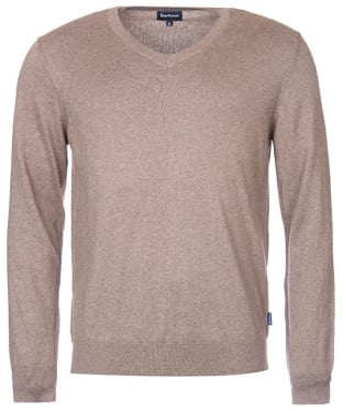 Men's Barbour Forth V Neck Sweater - Military Brown