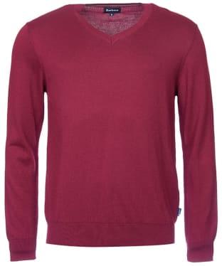 Men's Barbour Forth V Neck Sweater - Ruby