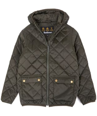 Boys Barbour Lawers Quilted Jacket, 10-15yrs - Sage
