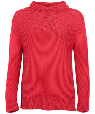 Women's Barbour Purl Stitch Knit Sweater - Red