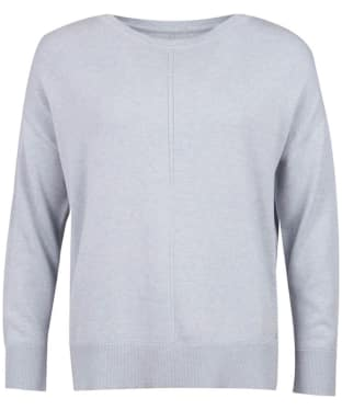 Women's Barbour Hawthorn Knit Sweater - Light Grey Marl