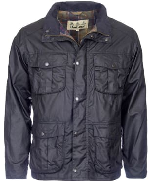 Men's Barbour New Utility Wax Jacket - Black