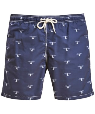 Men's Barbour Beacon Print Swim Shorts - Navy