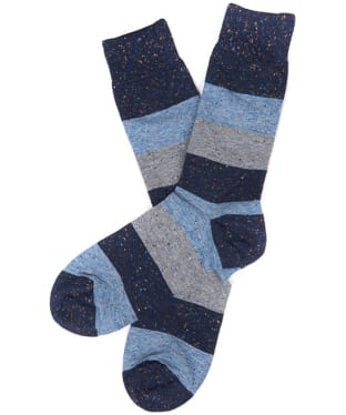 Men's Barbour Alfie Striped Socks - Blue Stripe