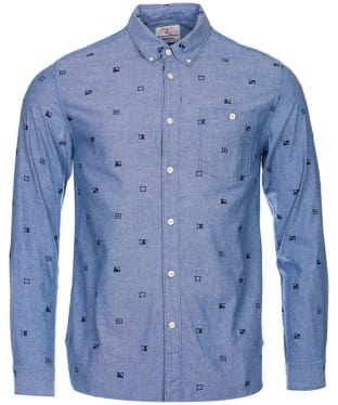 Men's Barbour Flags Shirt - Chambray Blue