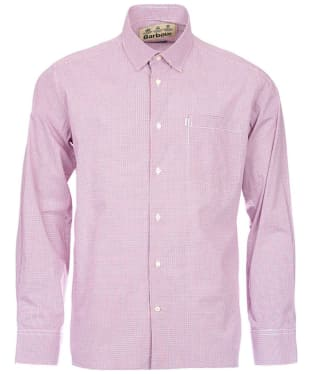 Men's Barbour Conholt Check Shirt - Rich Red Check