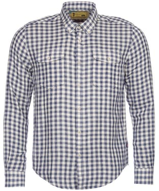 Men's Barbour Steve McQueen Wit Shirt - Indigo Check