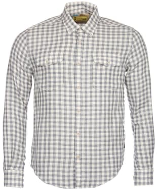 Men's Barbour Steve McQueen Wit Shirt - Grey Marl Check