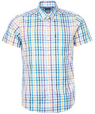 Men's Barbour Russell Short Sleeve Shirt - Purple Check