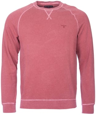Men's Barbour Garment Dyed Crew Neck Sweater - Biking Red