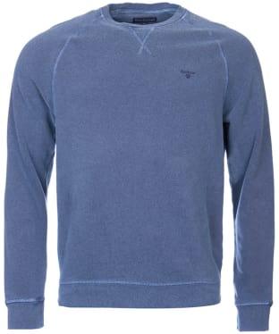 Men's Barbour Garment Dyed Crew Neck Sweater - Navy