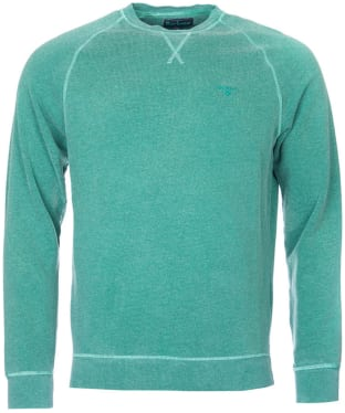 Men's Barbour Garment Dyed Crew Neck Sweater - Turf
