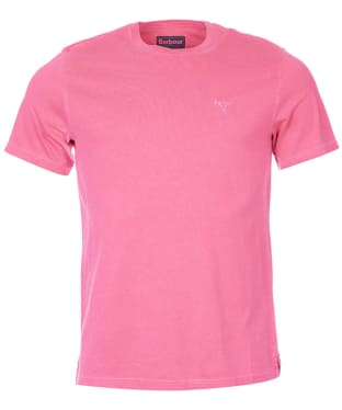 Men's Barbour Garment Dyed Tee - Fuchsia