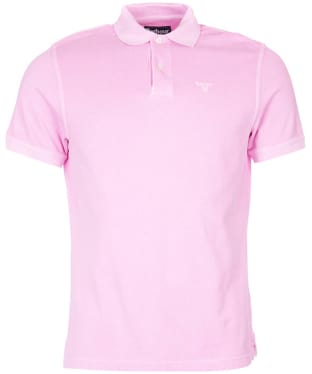 Men's Barbour Washed Sports Polo - Pink