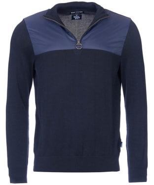 Men's Barbour Spruce Half Zip Sweater - Navy