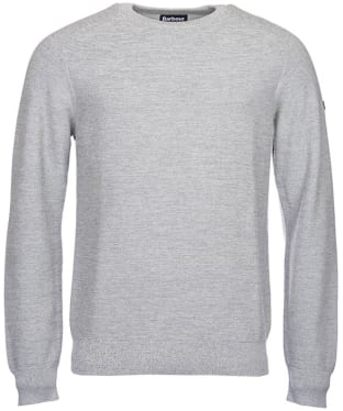 Men's Barbour International Silverton Crew Neck Sweater - Grey Marl
