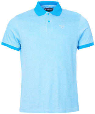 Men's Barbour Sports Polo Mix Shirt - French Blue