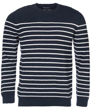 Men's Barbour Current Stripe Crew Sweater - Navy