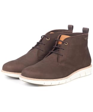 Men's Barbour Burghley Boots - Coffee