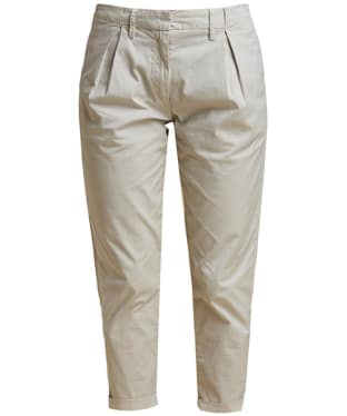 Women's Barbour Pleated Chinos - Light Stone