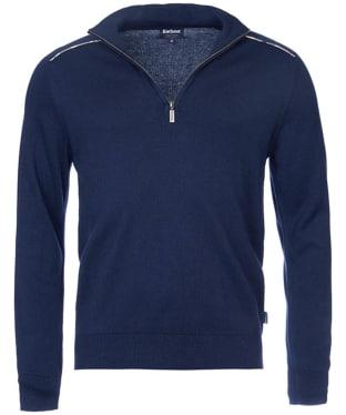 Men's Barbour Wick Half Zip Sweater - Navy